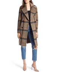 Abrigo de tweed marrón claro