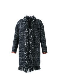 Abrigo de Tweed Negro de Giambattista Valli