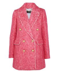 Abrigo de tweed rosa de J.Crew