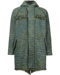 Abrigo de tweed verde oliva de Coohem