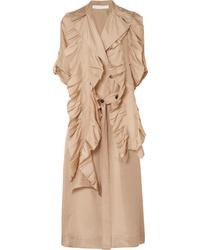 Abrigo duster marrón claro de Victoria Beckham