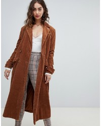 Abrigo duster naranja de Free People