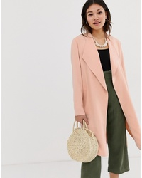 Abrigo duster rosado de Miss Selfridge