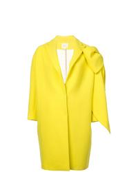 Abrigo en amarillo verdoso de DELPOZO