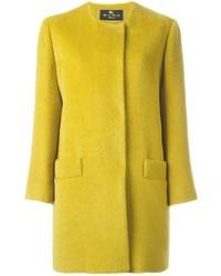 Abrigo en amarillo verdoso de Etro