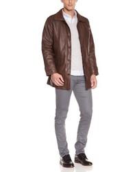 Abrigo en marrón oscuro de Mac Douglas