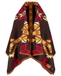 Abrigo en marrón oscuro de Pendleton