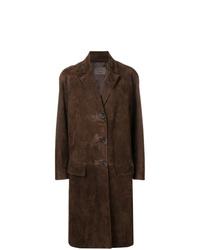Abrigo en marrón oscuro de Prada
