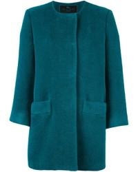 Abrigo en verde azulado