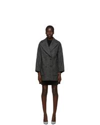 Abrigo en zig zag negro de RED Valentino
