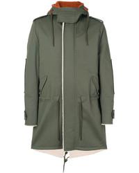 Abrigo estampado verde oliva de Valentino