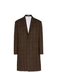 Abrigo largo a cuadros en marrón oscuro de Calvin Klein 205W39nyc