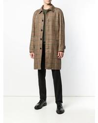 Abrigo largo a cuadros marrón de Paltò