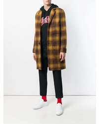 Abrigo largo a cuadros marrón de AMI Alexandre Mattiussi