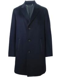 Abrigo largo azul marino de Brioni