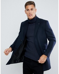 Abrigo largo azul marino de Burton Menswear