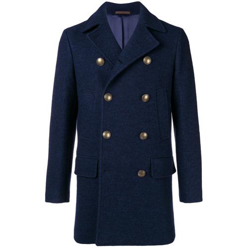 Abrigo largo azul marino de Eleventy