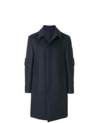 Abrigo largo azul marino de Fendi