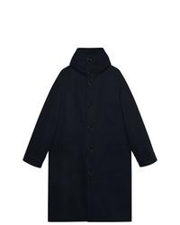 Abrigo largo azul marino de Gucci