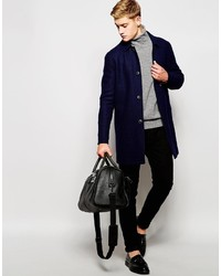 Abrigo largo azul marino de Jack and Jones