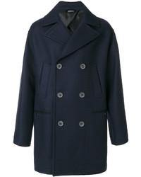 Abrigo largo azul marino de Lanvin