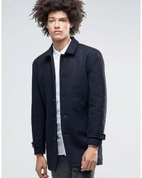 Abrigo largo azul marino de Minimum