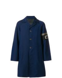 Abrigo largo azul marino de Prada