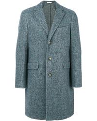Abrigo largo azul de Boglioli