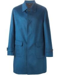 Abrigo largo azul de Brioni