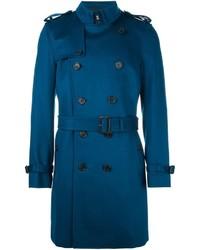 Abrigo largo azul de Burberry