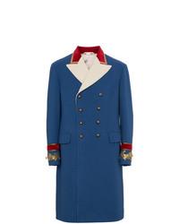 Abrigo largo azul de Gucci