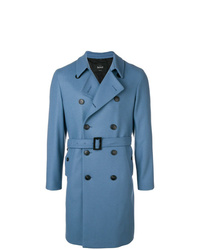 Abrigo largo azul de Hevo
