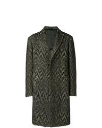 Abrigo largo bordado en negro y blanco de Tonello