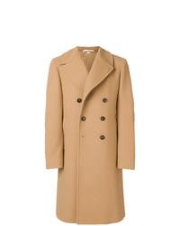 Abrigo largo bordado marrón claro de Gucci