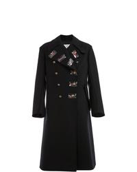 Abrigo largo bordado negro de Maison Margiela