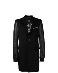 Abrigo largo bordado negro de Philipp Plein