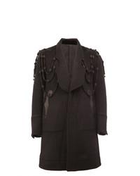 Abrigo largo bordado negro de Takahiromiyashita The Soloist
