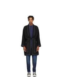 Abrigo largo bordado negro de VISVIM