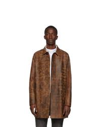 Abrigo largo de cuero marrón de 1017 Alyx 9Sm