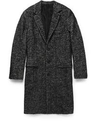 Abrigo largo de espiguilla en gris oscuro de Ami