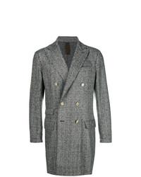 Abrigo largo de espiguilla en gris oscuro de Eleventy
