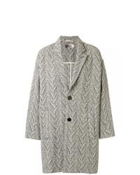 Abrigo largo de espiguilla gris de Isabel Marant