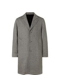 Abrigo largo de espiguilla gris de Officine Generale
