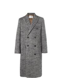 Abrigo largo de espiguilla gris de Salle Privée