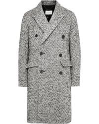 Abrigo largo de espiguilla gris de Sandro