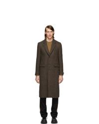 Abrigo largo de espiguilla marrón de Burberry