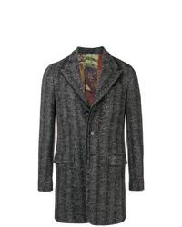 Abrigo largo de espiguilla negro de Etro