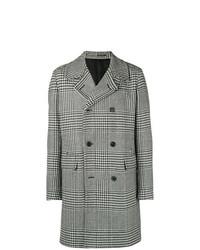 Abrigo largo de pata de gallo en negro y blanco de Givenchy