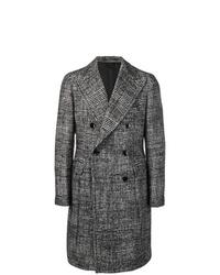 Abrigo largo de pata de gallo en negro y blanco de Tagliatore