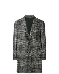 Abrigo largo de tartán en gris oscuro de Tagliatore